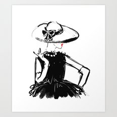 A Lady In Coco Art Print