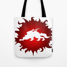 Amaterasu Logo- White Tote Bag