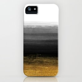 Black and Gold grunge stripes on clear white backround I - Stripes - Striped iPhone Case