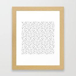 Abstract pattern: dots Framed Art Print