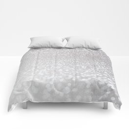 Silver ice - glitter effect- Luxury design Comforters