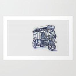 vietnam 3 wheelers Art Print