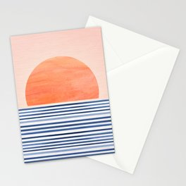 Summer Sunrise - Minimal Abstract Stationery Cards