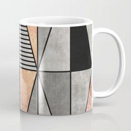 Concrete and Copper Triangles Coffee Mug