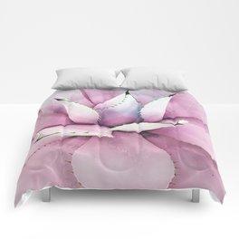 Pink Succulent Comforters