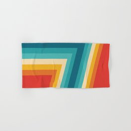 Colorful Retro Stripes  - 70s, 80s Abstract Design Hand & Bath Towel