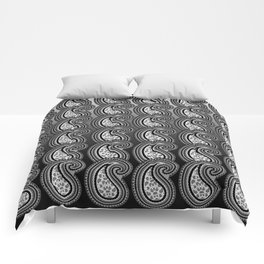 Silver & Black Paisley Nation Comforters