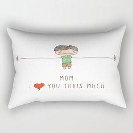 Mom I love you boy Rectangular Pillow
