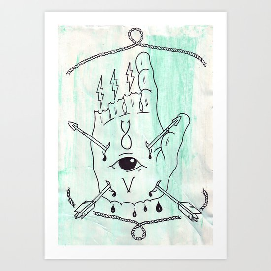 The One Who Points The Way. Art Print