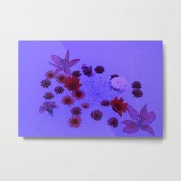 Flower Bath Metal Print