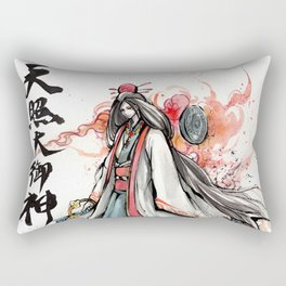 Amaterasu Omikami Japanese sumi watercolor Rectangular Pillow