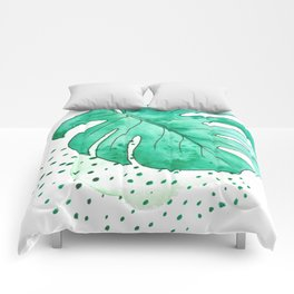 monstera monday Comforters