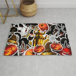 Halloween Spooky Cartoon Saga Rug