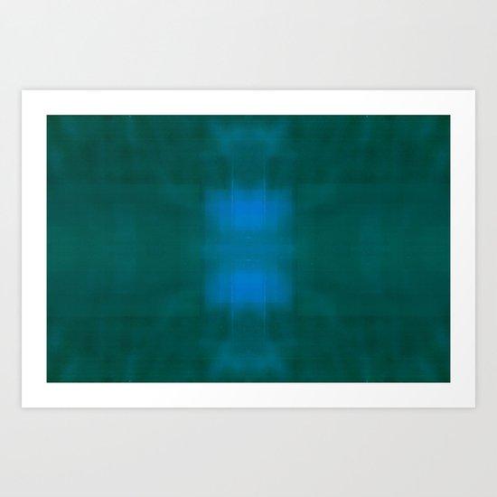 Blue / Green Art Print