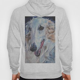 Borzoi dog portrait art from an original painting by L.A.Shepard Hoody