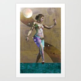 Fatale - Salomé - Gold Art Print