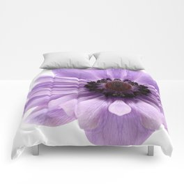 Lilac Anemone Flower Comforters