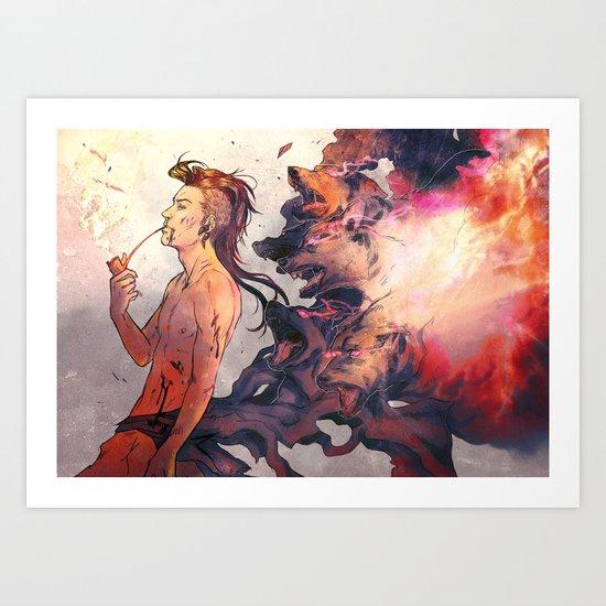 King of dogs - Nuvat Art Print