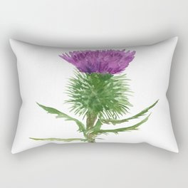 Thistle Watercolor Painting Rectangular Pillow