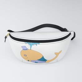 Steampunk Whale (Orange) Fanny Pack