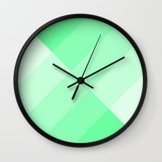 green and white gradient Wall Clock