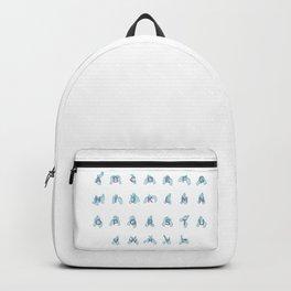 NZ Sign Language Alphabet Backpack