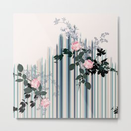 Uneven stripe Metal Print