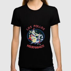 Los pollos hermanos Black Womens Fitted Tee LARGE