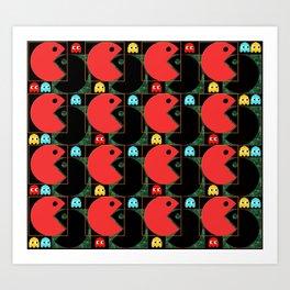 Pac-Tron Art Print
