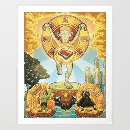 L'equilibrio divino Art Print