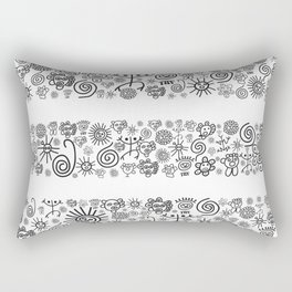 Heaven: Black and White Rectangular Pillow