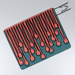 Running to you Living Coral Picnic Blanket
