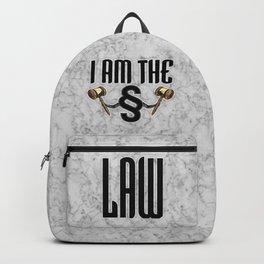 I am the law / 3D render of section sign holding judges gavels Backpack