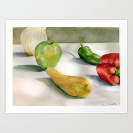 Vivacious Veggies Art Print