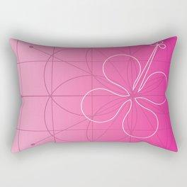 hibiscus window Rectangular Pillow