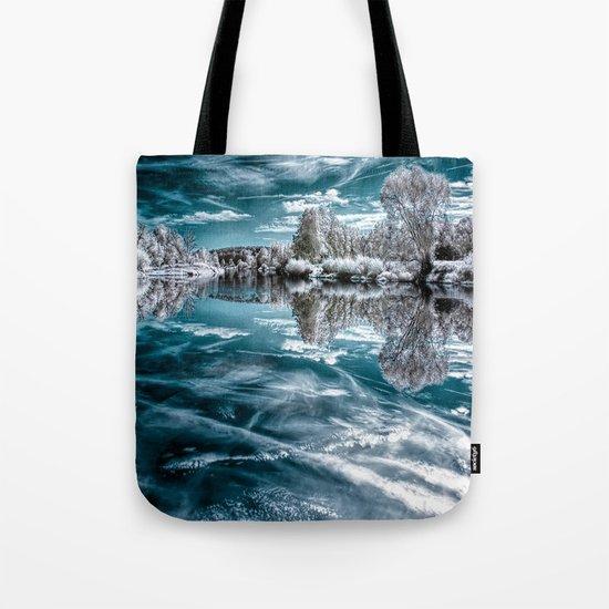 Frosty lake Tote Bag