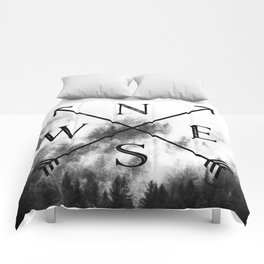 Foggy Forest Compass Comforters
