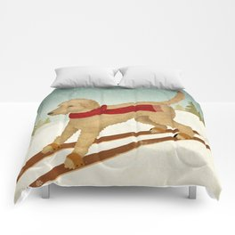 Doodle Schnoodle Whoodle Labradoodle Goldendoodle Ski Dog Comforters