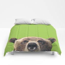 Bear - Green Comforters