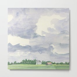Rust in the Distance #Society6 #watercolor Metal Print
