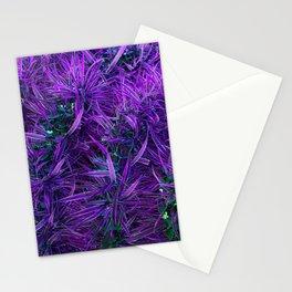 Chlorophytum Comosum, Botanical Texture - Purple Stationery Cards