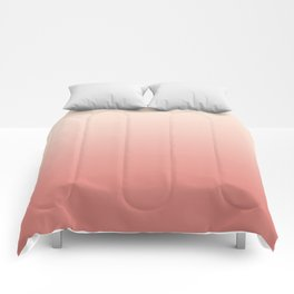 Ombre Pink Coral Comforters