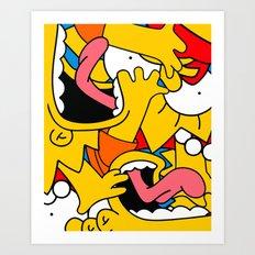 Simpsons Art Print