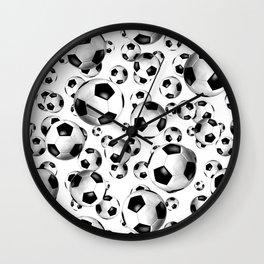 3D look soccer balls pattern Wall Clock
