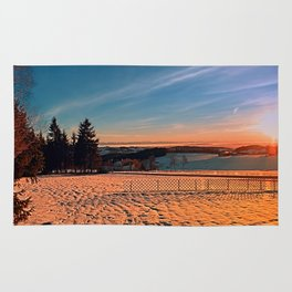 Colorful winter wonderland sundown IV | landscape photography Rug