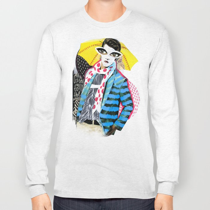 ::Man in the Rain:: Long Sleeve T-shirt