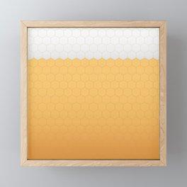 Foamy honeycomb Framed Mini Art Print