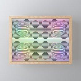 Deformed dots rainbow pattern Framed Mini Art Print