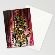 Zombie Ventriloquist Girl Stationery Cards