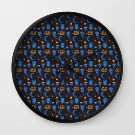 Night Owl Pattern by Holly Shropshire Wall Clock